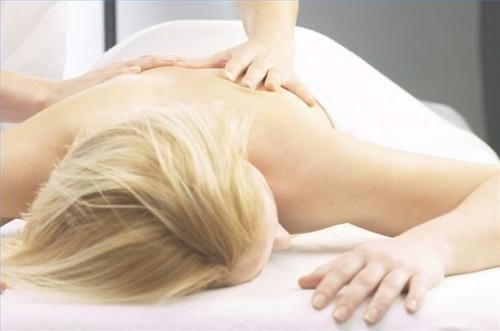 massage med afslutning øm på halsen