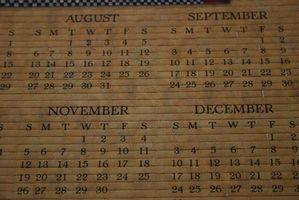 Hvordan å beregne hvor mange dager mellom Perioder