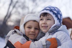 Hvordan å holde barna friske i vinter