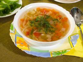 Hvordan å miste vekt ved å spise spinat og suppe før måltider