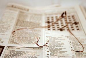 Forstørrelsesglass Varianter for Reading Avispapir