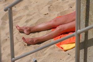 Misfargede føflekker på huden
