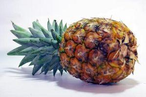 Hva er de relevante innholdet i en ananas?