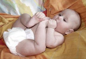 Fungal bleie utslett i en Baby