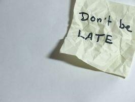 Hvordan å slutte å kjøre Late