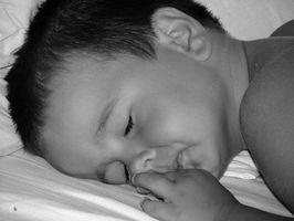 utflod hos barn sprute i munnen