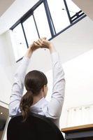 Hvordan holde seg i form på en pult jobb