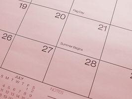 Hvordan lage en Reality Orientering Kalender