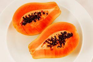 Bruken av Ripe Papaya ekstrakt